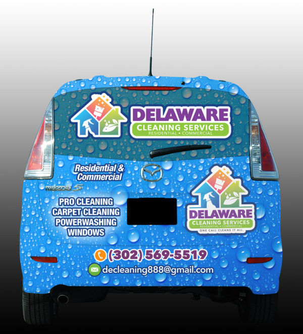 Delaware Cleaning Services Vehicle Wrap