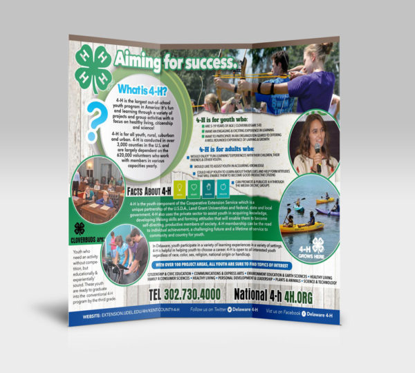 University of Delaware 4-H Youth Division Trifold Brochures