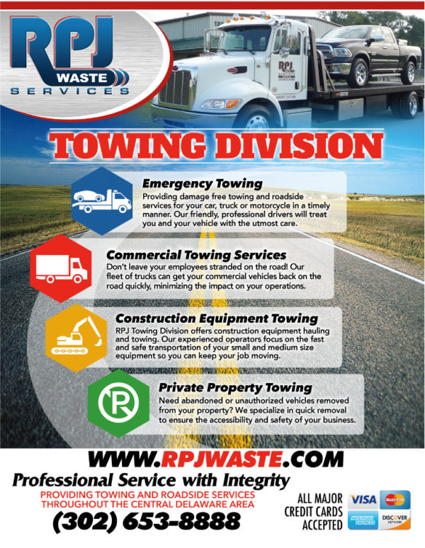 RPJ Waste Services Towing Division Flyers