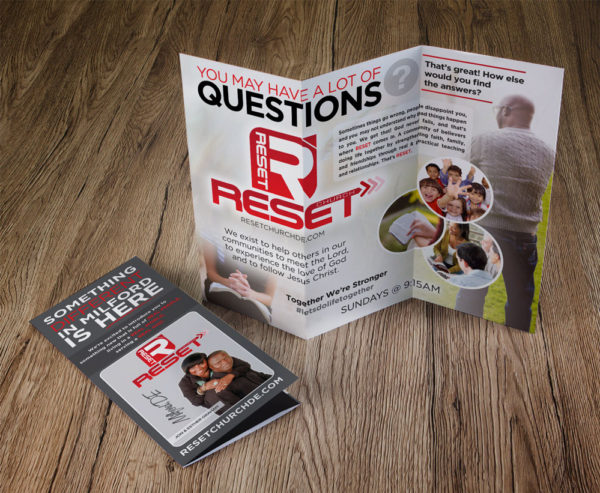 Reset Church Trifold Brochures